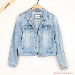 [Ashley Vintage Charm] Distressed Denim Jacket